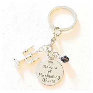 ✨3 for $30✨ Beware of Hitchhiking Ghosts Keychain